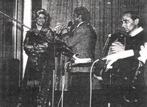 Isović, junto a la inmensa Nada Mamula y Petković